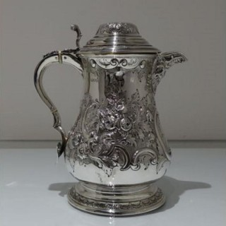 19th Century Antique Victorian Sterling Silver Flagon London 1882 John Aldwinckle & James Slater