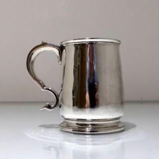 Early 18th Century Antique George I Sterling Silver Half Pint Mug London 1722 Matthew E. Lofthouse