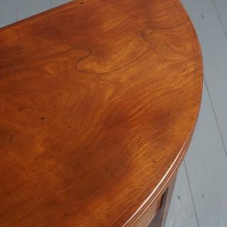 George III Inlaid Mahogany Foldover Table