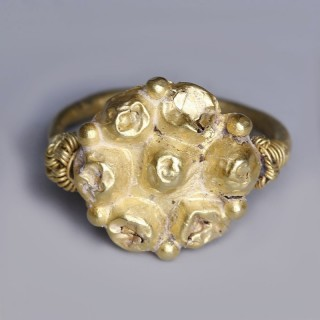 Near Eastern-Western Asiatic Gold Rosette Ring