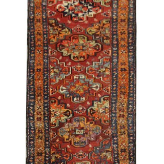 Hand Made Caucasian Wool Runner Rug- 106x383cm