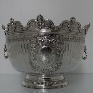 Early 18th Century Antique Queen Anne Britannia Silver Monteith Bowl London 1711 Isaac Dighton