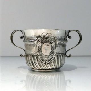 Early 18th Century Antique Queen Anne Britannia Silver Porringer London 1706 John Cory