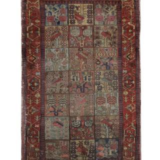 Worn Persian Wool Area Rug 121x175cm
