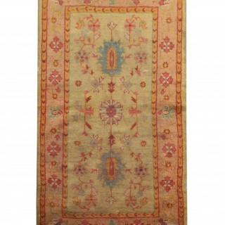 Antique Rugs Turkish Carpet Oushak Area Rug- 106x186cm