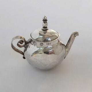Queen Anne Miniature Silver Teapot
