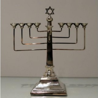 Mid 20th Modern Sterling Silver Menorah London 1958 A Taite & Sons