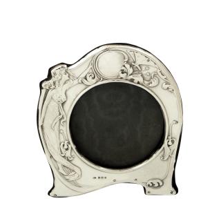 Antique Art Nouveau Sterling Silver Photo Frame 1907