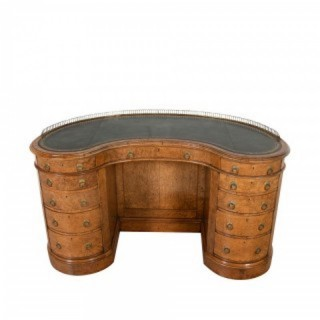 Gillows style kidney shaped desk