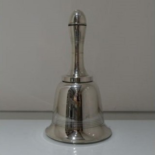 Early 20th Century George V Silver Plate Bell Formed Cocktail Shaker Circa 1935 Asprey & Co