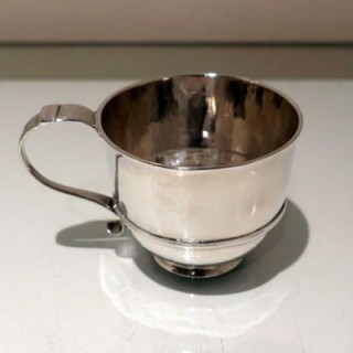 Early 18th Century Antique George I Scottish Silver Wine Cup Edinburgh 1716 Edward Penman