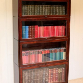 Mahogany Four Tier Stacking Bookcase