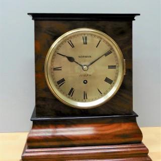 Mahogany Library Fusee Bracket Clock by Norman, Pimlico