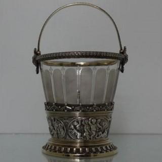 Silver Plated Victorian Ice Bucket Circa 1860 Elkington & Co