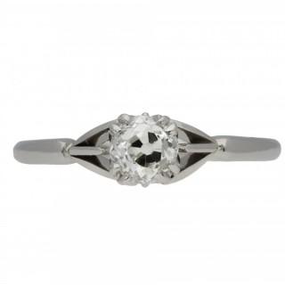Old mine diamond solitaire ring, circa 1905.