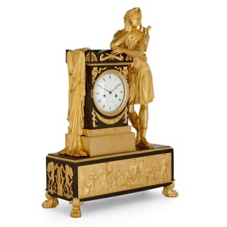 Antique Empire Period Neoclassical Style Mantel Clock