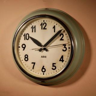 AEG/Peter Behrens Industrial Wall Clock