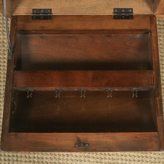 Antique English Art Deco Figured Walnut Drinks Cabinet Trolley Coffee Table by Incorporall (Circa 1930 – 1940)