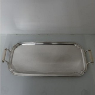 20th Century Modern Art Deco Sterling Silver Tea & Coffee Tray Sheffield 1936 Edward Viners