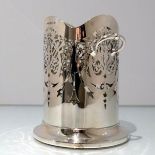 Early 20th Century Modern George V Sterling Silver Siphon Stand Birmingham 1930 Roberts & Dore