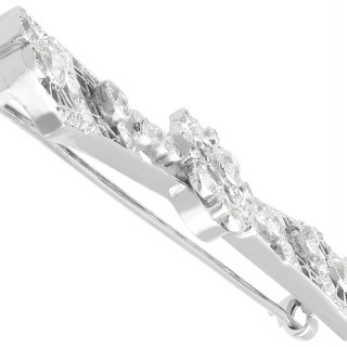 2.06 ct Diamond and Platinum Bar Brooch - Antique Circa 1930