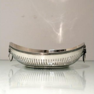 Early 20th Century Antique George V Sterling Silver Roll Dish Sheffield 1911 Walker & Hall