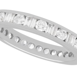 1.92ct Diamond and 15ct White Gold Full Eternity Ring - Vintage Circa 1980