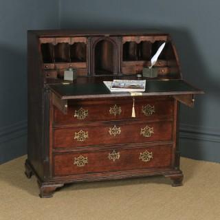 Antique English 18th Century Georgian Oak Office Bureau Desk (Circa 1780)