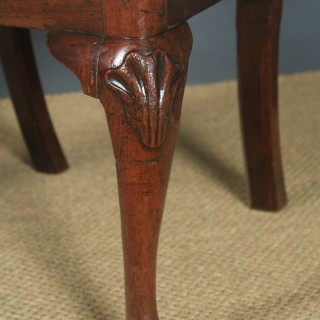 Antique English Pair of Georgian Chippendale Mahogany Dining / Side Chairs (Circa 1780)