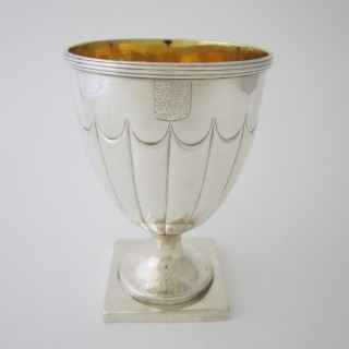 Antique William IV Sterling Silver Wine Goblet