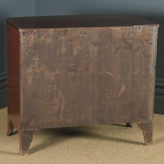 Small Antique English Georgian Regency Mahogany Bow Front Chest of Drawers (Circa 1820)