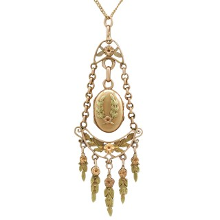 18 ct Yellow and Rose Gold Locket - Antique French Circa 1880