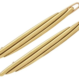 18 ct Yellow Gold Hair Clips by Cartier - Vintage 1978