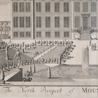 Large 18th Century Architectural Engraving of Montagu House