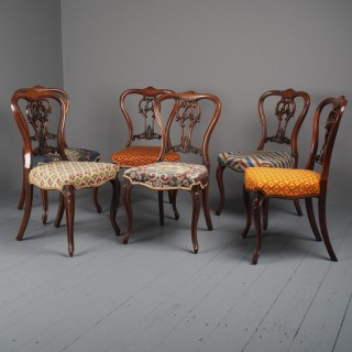 Set of 6 Mid Victorian Rosewood Dining Chairs