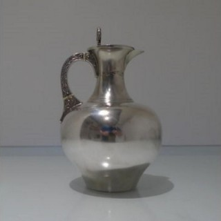19th Century Antique Victorian Sterling Silver Wine/ Hot Water Jug London 1878 William & George Sissons