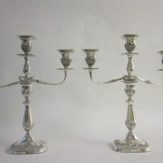 Antique Edwardian Sterling Silver Candelabra