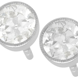 0.89ct Diamond and 18ct White Gold Stud Earrings - Antique and Contemporary
