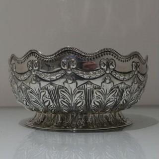 19th Century Antique Victorian Sterling Silver Rose Bowl London 1892 Richard Martin & Ebenezer Hall