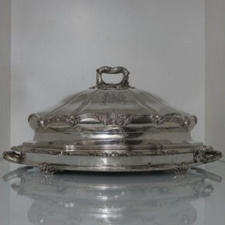 Old Sheffield Plate Meat Dish & Cover Circa 1830 Matthew Boulton