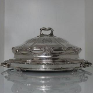 Old Sheffield Plate Meat Dish & Cover Circa 1830 Matthew Boulton