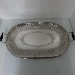 19th Century Victorian Antique Sterling Silver Tea & Coffee Tray Birmingham 1885 Frederick Elkington