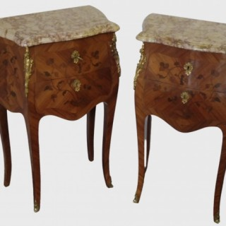 Pair Of Early 20th Century French Kingwood Bedside Tables
