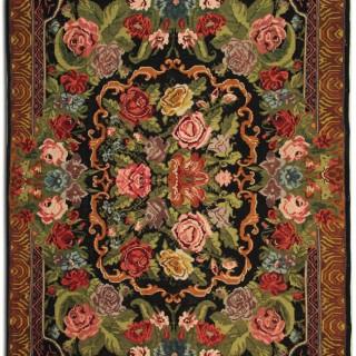 Vintage Moldovan Kilim Rug, Oriental Handmade Rug- 237x310cm