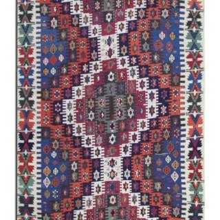 Handwoven Turkish Kilim Rug Traditional Oriental Konya Rug- 170x350cm