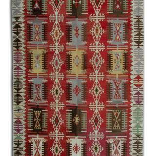 Handmade Turkish Kilim Rug- Traditional Oriental Flat-weave Rug- 163x390cm