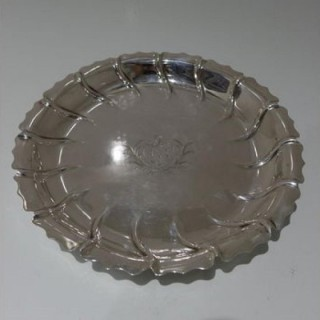 Mid 18th Century Antique George III Sterling Silver Strawberry Dish London 1765 Charles Hougham