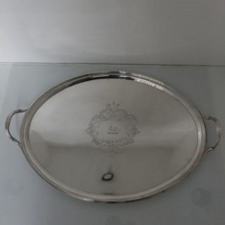 Geo III/19th Century Silver Tray London 1800 Solomon Hougham