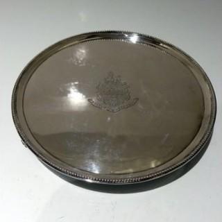 18th Century Antique George III Sterling Silver Salver London 1788 John Hutson