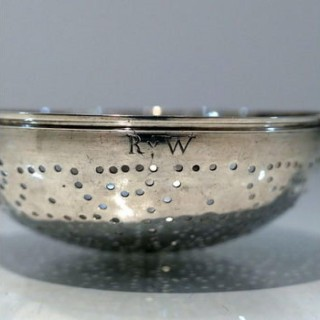 Early 18th Century Antique George I Sterling Silver Lemon Strainer London 1726 James Goodwin